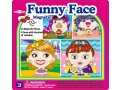 MAGNETIC FUNNY FACE GIRL TIN BOX contents 43 magnetic pcs  4 picturesfaces Do your own mix and match by putting different eyebrows eyes noses mouths and decorations on the provided pictures to create your very own funny faces Please Click the image for more information.