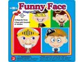 MAGNETIC FUNNY FACE BOY TIN BOX contents 30 magnetic pcs  4 picturesfaces Do your own mix and match by putting different eyebrows eyes noses mouth and decorations on the provided pictures to create your very own funny faces Please Click the image for more information.