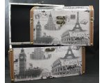 SET2  BOXES ROME,PARIS,LONDON LARGE SET OF 2 BOXES WITH CURVED TOP IDEAL FOR STORING KEEPSAKES INL 305X21X205CMS 265X18X175CM. Please Click the image for more information.
