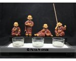 4 MONKS INCENSE/CANDLE HOLDER L30CM X W20CM X H17CM  4 MONKS INCENSE HOLDERS AND 3 GLASS TEA LIGHTCANDLE HOLDERS UNIQUE GIFT IDEA Please Click the image for more information.