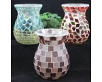 HAND MAIDE MOSAIC GLASS OIL BURNERS APPROXIMATELY 11CM HIGH GLASS OIL BURNER HAND MADE WITH COLOURFUL GLASS TILES Please Click the image for more information.