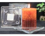 SQUARE GLASS PLATES 78CM SQUARE GLASS CANDLE HOLDERS SOLD IN  A TRAY OF 6 AND FITS STAND SIZE PILLAR CANDLES PRICE BELOW IS FOR 6 PIECES Please Click the image for more information.