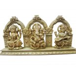 Diwali statue Set of three  statues for Diwali the Festival of LightsLakshmi Ganesh and SaraswatiThis is a wall hanging also. Please Click the image for more information.