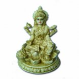 Lakshimi statue marble/ivory 100mm Lakshmi statueHindu Goddess of Wealth Happiness and LoveAs the consort of Vishnu Lakshmi is said to take different forms in order to be with him in each of his incarnations Born fro. Please Click the image for more information.