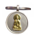 Golden Quan Yin on silver keyring, Golden Quan Yin on silver keyring Goddess of mercy and compassion and protector of all children Please Click the image for more information.
