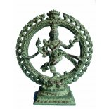 Shiva dancing in halo  antique finish  Shiva statue has many manifestations As Nataraja Lord of the Cosmic Dance he embodies the eternal movements of the universe ever creating and destroying His s. Please Click the image for more information.