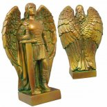 Archangel Michael statue in bronze Finished in antique broze made from crushed marble and resin composite Comes in a padded gift box with story. Please Click the image for more information.