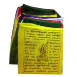 Tibetan prayer flags Tara Tibetan prayer flags Goddess Tara Set of 10 prayer flags medium quality cotton  x   Please Click the image for more information.