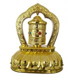 Solar powered prayer wheel for car or window A gorgeous golden prayer wheel that reflects light in the car as it goes around sending prayers of compassion towards all sentient beings. Please Click the image for more information.