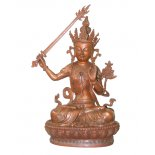 Bronze Manjushri statue Bronze statue able to bless as it can open at bottom of statueManjushri The Bodhisattva of WisdomThere are two different kinds of bodhisattvathe ideal and the bodhisattva who strives  to achieve enlightenment The  ideal  . Please Click the image for more information.