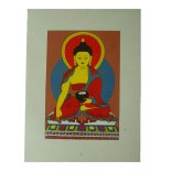 Shakyamuni Deity Cards, Set of 4 Hand made paper card from Nepal  Comes in set of four cards same design  Cards are blank inside Please Click the image for more information.