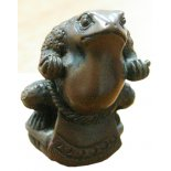 Sumo Netsuke Toad Statue, Antique Brown, Pocket Size, 55mm Sumo Toad Strength inner calm protection and honourThe Sumo Toad stands in the defense position he is highly disciplined and stands upon a lotus flower the symbol of purity and  spiritual unfolding Please Click the image for more information.