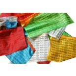 Prayer Flag 20 flags in one string each flags measures 140mm x 260mmRepresents compassion flowing out to all sentient beings Please Click the image for more information.