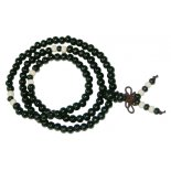 Black Mala bead necklace 6mm Black wood bead Mala necklace on stretch cordWith white spacer beads Beautiful glossy black beads that will fit comfortably around your wrist or neck The. Please Click the image for more information.