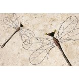 Metal Dragon Fly wall hanging A bronze and copper coloured metal hand made Dragon Fly see our picture what they look like on the garden wall . Please Click the image for more information.
