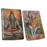 Shiva Family fridge magnets Set of two ceramic fridge magnets Please Click the image for more information.