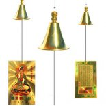 Quan Yin Breeze Bell Set of four in one pack Quan Yin Breeze Bells with plastic card and small brass bell This bell is designed to catch a slight breeze with the card and has a pleasant tinkle soundQu. Please Click the image for more information.