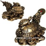 Money Turtle Statue Gold 62mm The Ancient Money Turtle with the head of the Dragon and body of the TurtleUsed in Feng Shui to represent good health longevity and wealth. Please Click the image for more information.