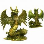 Dragon statue Gothic Dragon statue in green gold finishMade from crushed marble and resin composite Comes in gift box with story of the Dragon. Please Click the image for more information.