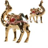 Camel Statue, Shiny Gold with coloured seat   Camel Statue Shiny Gold with coloured seat Adaptability Survival and Endurance Please Click the image for more information.