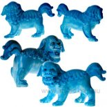 Fu Dog Statues, Sky Blue, Pair,   Pair of Fu Dogs statues in brilliant sky blue finish turquoise finish Please Click the image for more information.