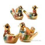 Mandarin Duck Statues, Pair. Golden Pair of golden Mandarin Ducks  Figurine Please Click the image for more information.