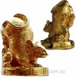 Rat Statue holding Ingot