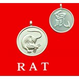 Rat round Double Sided Character/Chinese Calligraphy Pendants Rat round Chinese year of Animal with Calligraphy pendent on black cord Please Click the image for more information.