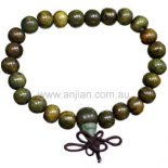 Mala bead green sandalwood bracelet