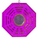 Purple/Gold Bagwa Mirror Purple  Gold Bagwa Mirror made from perspex Please Click the image for more information.
