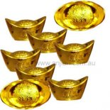 Box  of 8 small gold ingots