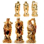 Stargod Statues, Shiny Gold, 100mm - Set of 3 Fu Lu Shou statues set of three star gods representing happiness health and wealth Please Click the image for more information.