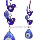 two ducks and evil eye Two blue glass ducks with evil eye a  hanging for cars homes and officeRepresenting Love Luck Please Click the image for more information.