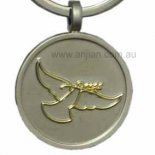 Golden Peace Dove on silver keyring Golden Peace Dove on silver keyring Please Click the image for more information.