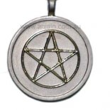 Gold Pentagram on silver keyring Golden pentagram on silver keyring 5 pointed starAlso known as pentalpha or pentangle The word pentagram comes from the Greek word pentagrammon meaning 5 lines The Gre. Please Click the image for more information.