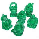 Box 6 Jade Laughing Buddhas 57mm