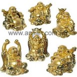 Set of 6 Gold Buddha Statues 65mm Set of 6 Gold Buddha Statues  representing health wealth and happiness Please Click the image for more information.