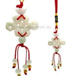 Lucky Knot Jade Hanging