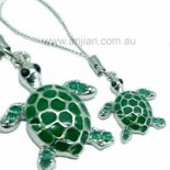 Turtle with Green Dimenti (241) Turtle with Green Dimenti Silver Hanging Please Click the image for more information.