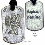 Archangel Raphael &quot;Healing&quot; Silver Pendant on Black Cord