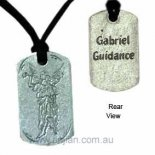Archangel Gabriel &quot;Guidance&quot; Silver Pendant on Black Cord