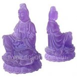 Purple Frosted Quan Yin Statue 95mm Quan Yin statue sitting holding vase of Compassion Goddess of Mercy and Compassion Also known as Guan Yin and Kwan YinQu. Please Click the image for more information.
