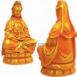 Quan Yin Statue &quot;Goddess of Compassion&quot; Golden Arancia 250mm