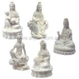 Quan Yin Statues Set of 5