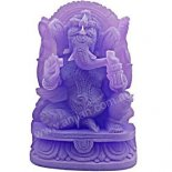 Ganesha Elephant God Statue, Frosted Purple, 100mm