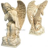 Angel Kneeling Statue, Antique Ivory, 180mm Kneeling Angel of bereavement and compassion statue made from crushed marble and resin composite Please Click the image for more information.