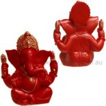 Ganesha Statue, Carnelian red Finish, Hand Painted Shaoshan Stone,120mm Ganesha with four arms statue  Remover of Obstacles The elephant headed God  Ganesh also known as Ganesha is known as the Remover of Obstacles and Lord of Beginnings As t. Please Click the image for more information.