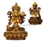 "White Tara Statue, ""One who saves"", Gold & Brown,  135mm White Tara statue Mother of all BuddhasRemover of ignorance and obstacles to a long life Goddess of healthWhit. Please Click the image for more information."