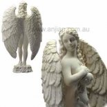 Angel of the Forest ivory gold finish  Art Nouveau French themed Angel of the Forest statue An original design by Annie Protector of the EnvironmentThe Angel of the Forest cares for the environment which supports all life She is. Please Click the image for more information.