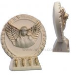 angel flying out of picture frame An ivory angel flying out of the picture frame on stand An original design by Annie Please Click the image for more information.